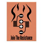 Join The Resistance - Orange Poster