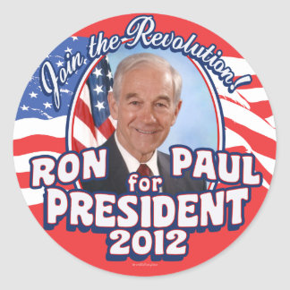 Join the Revolution 2012 Round Stickers