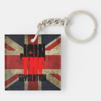 Join the Revolution Key ring - square Double-Sided Square Acrylic Keychain