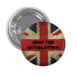 Join The Revolution - Old Union Flag Badge Pinback Button
