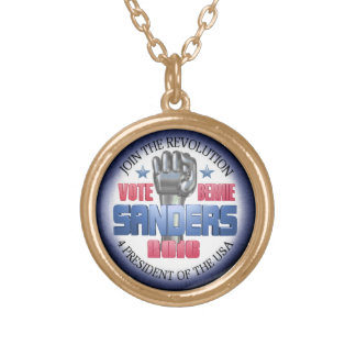 Join the Revolution with Bernie Sanders Gold Plated Necklace