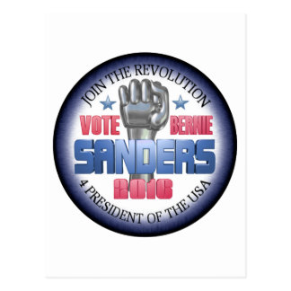Join the Revolution with Bernie Sanders Postcard