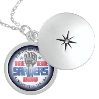 Join the Revolution with Bernie Sanders Round Locket Necklace