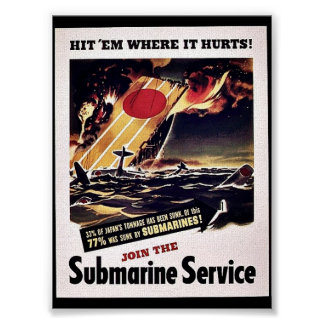 Join The Submarine Service Poster