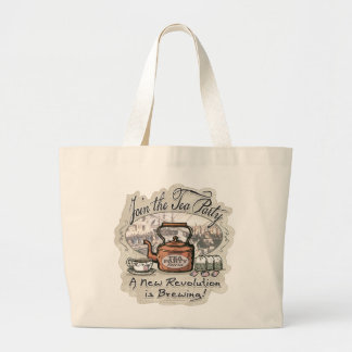 Join the Tea Party Tea Shirts and Gifts Large Tote Bag
