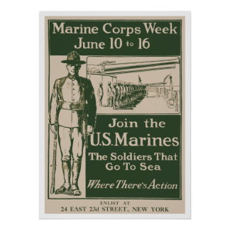 Join The U S Marines Posters