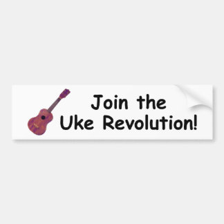 Join the Uke Revolution! Bumper Sticker