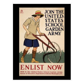 Join The United States School Garden Army Post Card