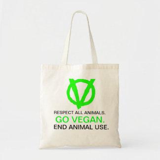 Join the Vegan Revolution! GO VEGAN - with logo! Budget Tote Bag