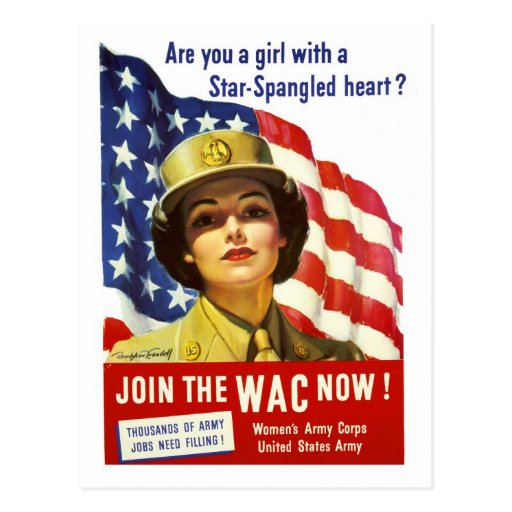 Join the WAC now! War Poster Post Card