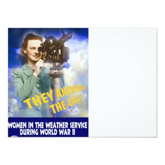 Join the Weather Service 5.5x7.5 Paper Invitation Card