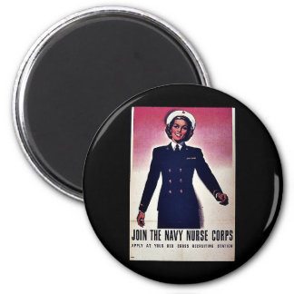 Join Tht Navy Nurse Corps 2 Inch Round Magnet