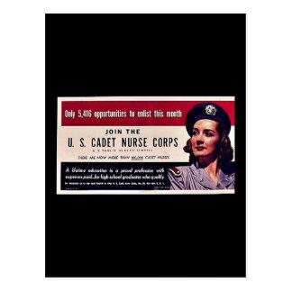Join Tht U.S. Cadet Nurse Corps Postcard