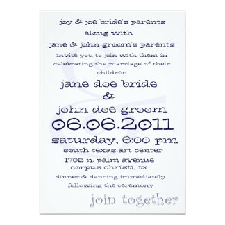 Join Together Contemporary Wedding Invitation