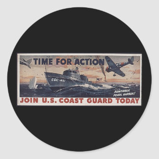 Join U.S. Coast Guard Today Classic Round Sticker