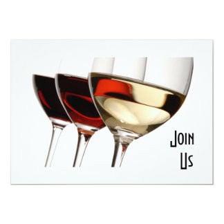 JOIN US - ADULT PARTY INVITATION WITH WINE GLASSES