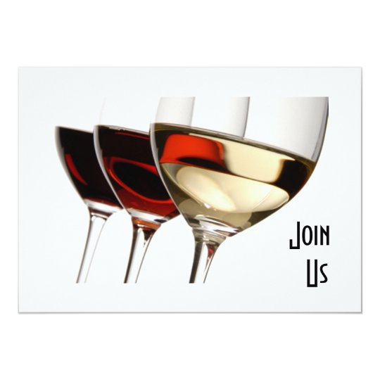 Join us adult party invitation with wine glasses