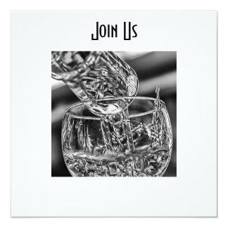 """JOIN US (ALL OCCASION) INVITATION (COCKTAIL) 5.25"""" SQUARE INVITATION CARD"""