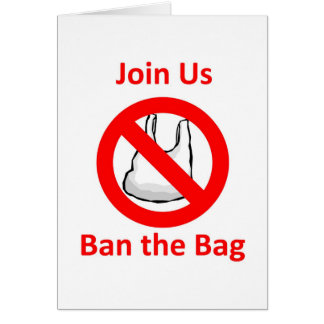 Join Us, Ban the bag around the World Greeting Card