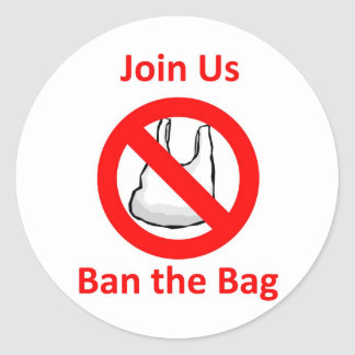 Join Us, Ban the bag around the World Stickers