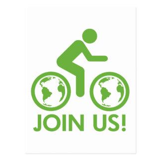 Join Us Bike Fuel Postcard