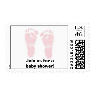 Join us for a baby shower girl postage
