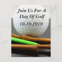 Join Us For A Day Of Golf Invitation Postcard