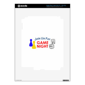Join Us For Game Night iPad 3 Decals