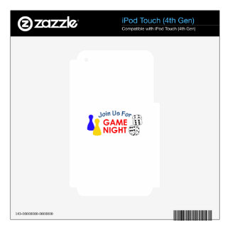 Join Us For Game Night iPod Touch 4G Decal