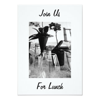 "JOIN US FOR LUNCH - INVITATION 5"" X 7"" INVITATION CARD"