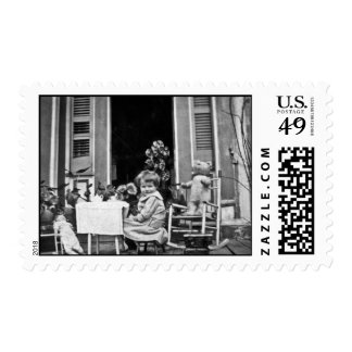 Join Us For Tea Time Postage Stamp