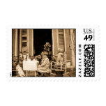 Join Us For Tea Time (Sepia Toned) Postage