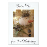 """JOIN US FOR THE HOLIDAY"" WITH MAGICAL SNOWMAN PERSONALIZED INVITATION"