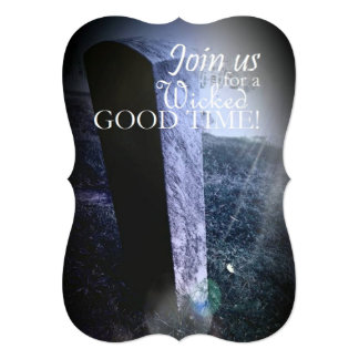 """Join Us Grave Stone Themed 5"""" x 7"""" Invitations"""