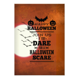 Join Us If You Dare For A Halloween Scare Custom Invite