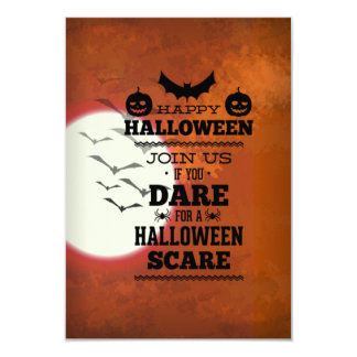 Join Us If You Dare For A Halloween Scare 3.5x5 Paper Invitation Card