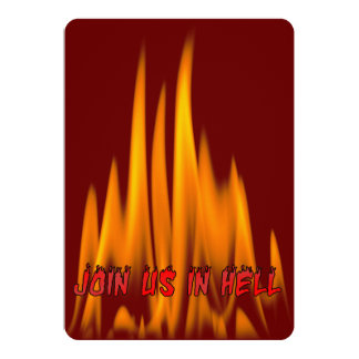 Join us in Hell Halloween Costume Party Card