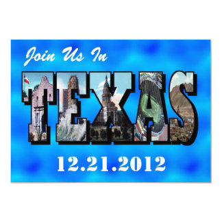 Join Us In TEXAS Large Scenic Letter SAVE THE DATE Card