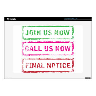 Join us now Call us now Final Notice Laptop Skins