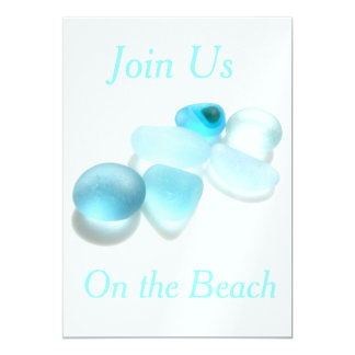 Join Us - On the Beach 5x7 Paper Invitation Card