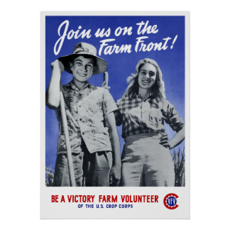 Join Us On The Farm Front! WW2 Poster