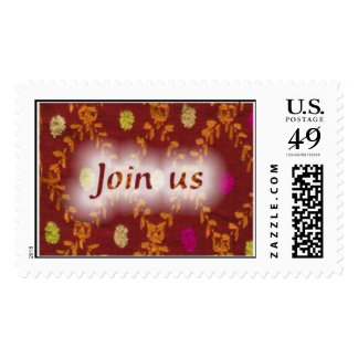 join-us postage stamp