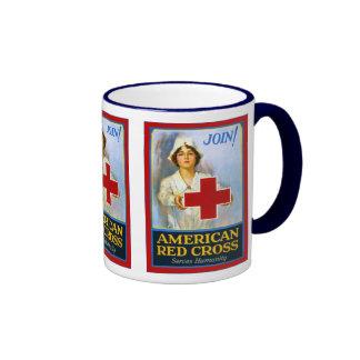 Join! ~ Vintage Nurse ~  World War 1 Ringer Coffee Mug