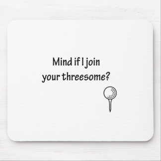 Join Your Threesome Golf Design Mouse Pad