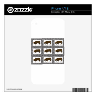 joined brown bulls skin for the iPhone 4