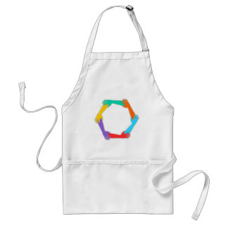Joined Hands Adult Apron