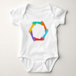 Joined Hands Baby Bodysuit