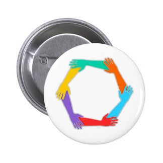 Joined Hands Pinback Button