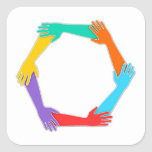 Joined Hands Square Sticker
