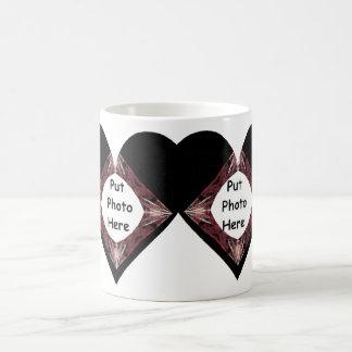 Joined Hearts Fractal Art Frame Coffee Mug